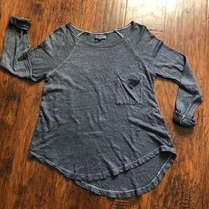 Madewell grey blue thin long sleeve SZ S